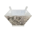 Acrylic Salad Bowl with Servers Grey Agate Marble