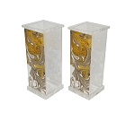 Acrylic Salt & Pepper Set Gold Agate Marble