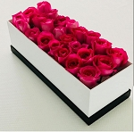 Lucite Black & White 24 Flower Box