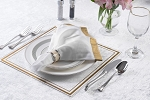 Lucite Table Chargers/Tray Traditional gold