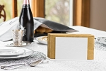 Lucite Upright Napkin/Zemiros Holder  Design  White