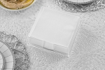 Lucite Flat Napkin Holder  Design  Frost Walls/clear Base