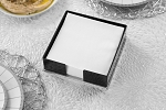 Lucite Flat Napkin Holder  Design  Black/Clear Base