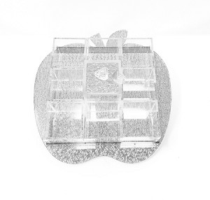 Rosh Hashana Simonim 9 Sectional Apple Tray Silver Large 12.5 inch
